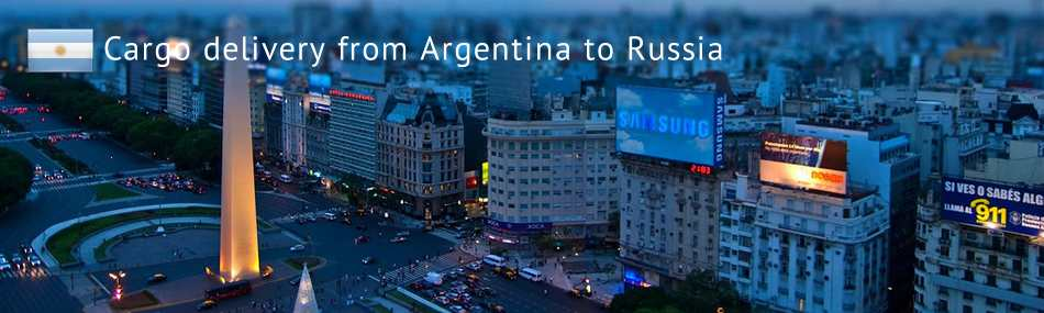 Cargo delivery from Argentina to Russia